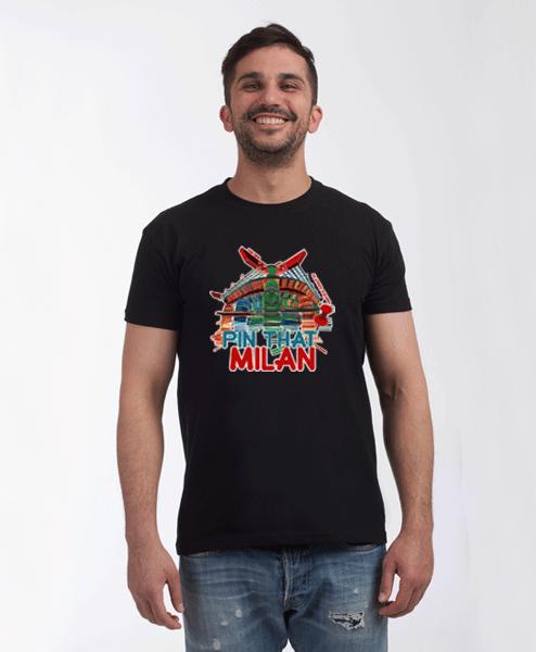 Milan San Siro t-shirt male black