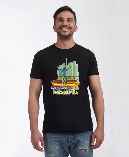Rocky Steps Philadelphia T-Shirt male Black