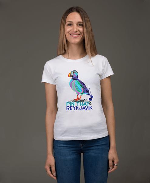 Puffin Reykjavik White T-shirt female